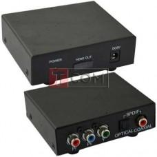 Конвертор AV в HDMI TCOM, вход - гнездо Tosling, 3 гнезда RCA component, выход - гнездо HDMI
