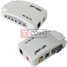 Конвертор VGA в AV TCOM, гнездо VGA - гнездо VGA, гнездо RCA, гнездо S-video, шнуры