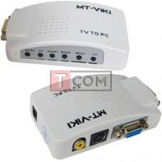 Конвертор AV в VGA TCOM, гнездо VGA - гнездо VGA, гнездо RCA, гнездо S-video, шнуры