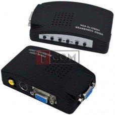 Конвертор AV в VGA TCOM (RCA, BNC composite, S-Video в VGA), 5V~19V