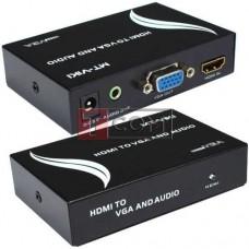 Конвертор HDMI в VGA + аудио MT-VIKI, гнездо HDMI - гнездо VGA + гнездо 3.5мм, DC-5V (MT-HV01)