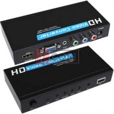 Конвертор VGA+ RGB в HDMI MT-VIKI, гнездо VGA + 3 гнезда RCA - гнездо HDMI
