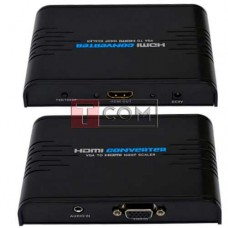 Конвертор VGA в HDMI TCOM, гнездо VGA - гнездо HDMI, 1080Р