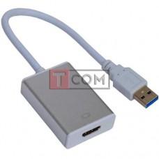 Конвертор USB 3.0 в HDMI TCOM, штекер USB A - гнездо HDMI