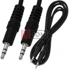 Шнур аудио AUX TCOM, штекер 3.5 стерео - штекер 3.5 стерео, Ø4мм, 2.4м