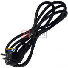Шнур сетевой Евро TCOM без разъёма, 3x0.75мм, 1.8м, чёрный