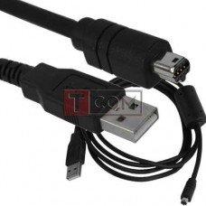 Шнур компьютерный TCOM, штекер USB А - штекер miniUSB 8pin, круглый, с фильтром, Ø3.5мм, 1.5м