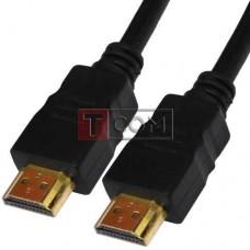 "Шнур HDMI TCOM, штекер - штекер, Vers-1.4, Ø6мм, ""позолоченный"", 7,5м, чёрный"