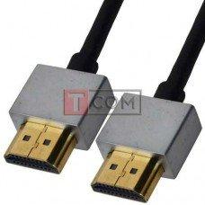 """Шнур HDMI Ultra Slim, штекер - штекер, Vers-1.4, """"позолоченный"""", Ø4.2мм, в блистере, 2м"""