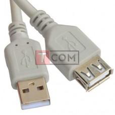 Удлинитель USB TCOM, штекер A - гнездо А, Vers- 2.0, Ø 4.5мм, 3метра