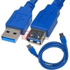 Шнур USB TCOM, штекер А - гнездо А, Vers- 3.0, 1.5м, синий