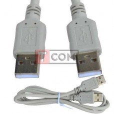 Шнур USB TCOM, штекер A - штекер А, Vers- 2.0, Ø4.5мм, 1м