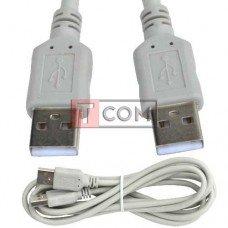 Шнур USB TCOM, штекер A - штекер А, Vers- 2.0, Ø4.5мм, 2м