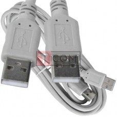 Шнур USB TCOM, штекер A - штекер А, version 2.,0, Ø4.5мм, 3м