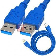 Шнур USB TCOM, штекер А - штекер А, Vers- 3.0, Ø5.5мм, 1.5м, синий