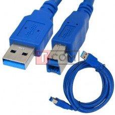 Шнур USB TCOM, штекер A - штекер B, Vers- 3.0, 1.5м, синий