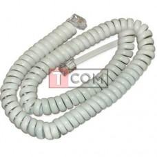 Телефонный удлинитель TCOM витой, трубочный, 4р4с, 4.5м, белый