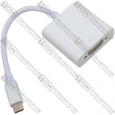 Переходник HDTV 4К (штекер USB type C - гнездо VGA), с кабелем 15см
