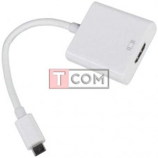 Переходник штекер USB type C - гнездо HDMI, с шнуром 15см