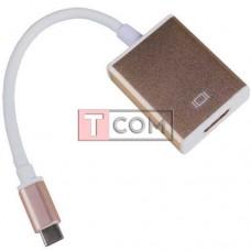 Переходник штекер USB type C 4K x 2K - гнездо HDMI, с шнуром 15см