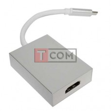 Переходник HDTV 4К TCOM, штекер USB type C - гнездо HDMI, с кабелем 15см, в коробке