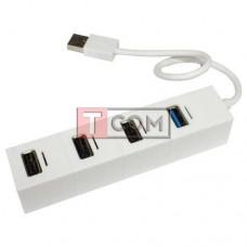 USB-Hub на 4 порта iETOP, USB3.0/2.0, белый