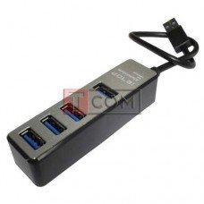 USB-Hub на 4 порта iETOP, USB3.0, серый