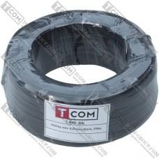 Упаковочная проволока в ПВХ изоляции TCOM, чёрная, бухта 250м