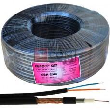 Кабель для систем видеонаблюдения 3C2V EUROSAT, комбинированный, Cu, 48%, чёрный, 100м