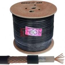 Кабель коаксиальный RG-8/U EUROSAT, многожильный, Cu, 104%, чёрный, 305м