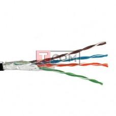 Кабель FTP KW-Link, Cat.5e, 4 пары, 0.51мм, Cu, Ø5мм, наружный, чёрный, 305м