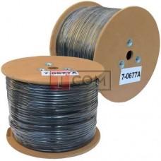 Кабель FTP KW-Link, Cat.5e, 4 пары, 0.51мм, CCA, Ø5.8мм, наружный c тросом, 305м