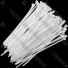 Стяжка многоразовая 400х5мм, белая, упак.-100 шт