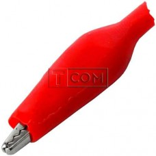 Зажим тестерный малый красный L44мм