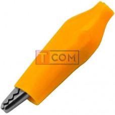 Зажим тестерный TCOM малый, L44мм, жёлтый
