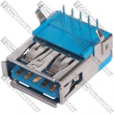 Гнездо USB 3.0 тип A (90°), монтажное
