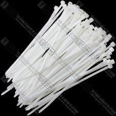Стяжка многоразовая 200х5мм, белая, упак.-100 шт